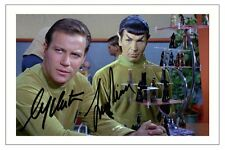 WILLIAM SHATNER & LEONARD NIMOY STAR TREK SIGNED PHOTO PRINT AUTOGRAPH