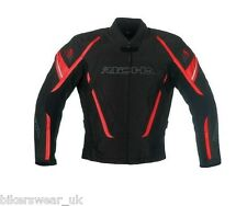 RICHA Cage Black / RED  - Waterproof Textile Motorcycle Jacket Size L only