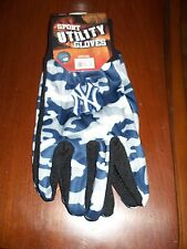 New York Yankees NY Camouflage Work/Utility Gloves NWT Blue/White/Gray
