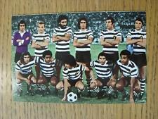 1960/70's European Football Postcard: Sporting Lisbon [No Narative On Back] - Po