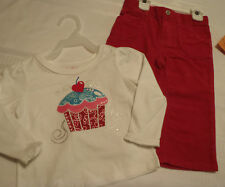 18 Month Garanimals Shirt Sonoma Pants Cupcake Outfit NWT