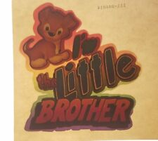 Vintage Iron On T-Shirt Heat Transfer: I'm The Little Brother Kid's Children's