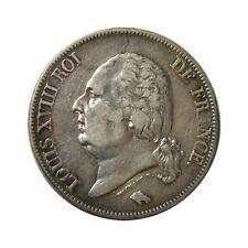 elf France 5 Francs 1824 H  Silver  Louis XVIII