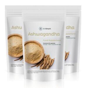 Ashwagandha Extract Capsules 8000mg Stress Fatigue Anxiety Relief Organic Vegan