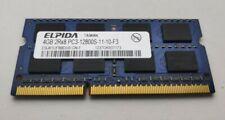 Elpida EBJ41UF8BDU0-GN-F 1x4GB PC3-12800-11-10-F3 DDR3-1600MHz Laptop RAM Memory