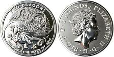 2018 UK 1oz Two Dragons Silver Coin, GPB 2