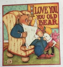 Mary Engelbreit Handmade Magnet-I Love You Old Bear