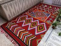 Handmade Vintage Moroccan Berber Rug Beni Ourain Tribal Rug Azilal Wool Carpet