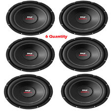 Lot of 6 NEW Pyle PLPW8D 8'' 800 W Dual Voice Coil 4 Ohm Car Subwoofer Speakers
