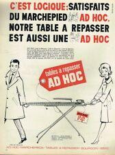 L- Publicité Advertising 1965 Marche pied et Table à repasser Ad Hoc