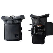 Brevite RollTop utility hiking dark gray with insert camera backpack bag