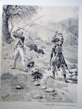 """c71-3 Gravure contes et récits d'Alsace - """"Tambour Major de Nassau"""" Tanconville"""