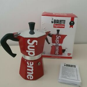 SS19 Supreme x Bialetti Moka Express red made in Italy espresso coffee