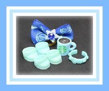 ❤️Authentic Littlest Pet Shop LPS Original TEAL Blue COLLAR & SHOES Accessory❤️