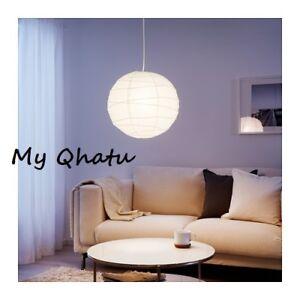 IKEA Pendant Lamp Shade White Rice Paper Handmade Regolit NEW 701.034.10