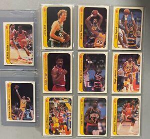 1986 Fleer Basketball Complete Sticker Set 11/11 w/ Michael Jordan RC Rookie HOF