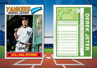 1977 Topps Style DEREK JETER Custom Artist Novelty Baseball Card