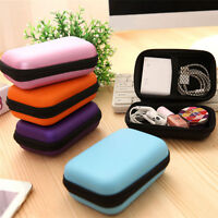 "Case Pouch Bag Storage Holder For Headphone Headset Earphone 1.57"" Hard Disk YA"