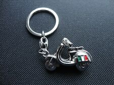 Vespa Piaggio 3D Scooter Keyring - Silver Colour