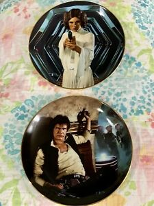 VintageStar Wars Han Solo And Princess Leia Hamilton Collection Plates 2