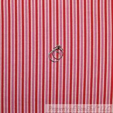 BonEful Fabric Cotton Quilt VTG Red White Straw*berry Stripe Pink Flamingo SCRAP