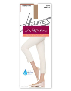 12 Pairs Silk Reflections Sheer Liners