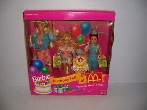 1993 Mattel Barbie Birthday Fun At McDonald's A Party For Stacie & Todd NIB