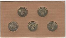 1983-1987 EII británico £ 1 una libra Colección de Monedas conjunto de cresta de leche ** coleccionistas **