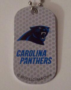 Carolina Panthers Necklace/Key Chain/ Dog Tag