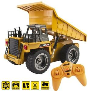 deAO Remote Control 1:18 Die Cast Dumper Truck with 6 Channel & Light Functions