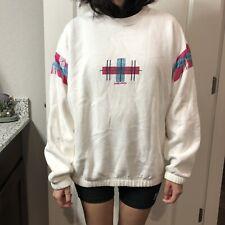 "Vtg 70s 80s Head Women's Medium ~ Crewneck Pullover Sweater Ski Retro ""White�"