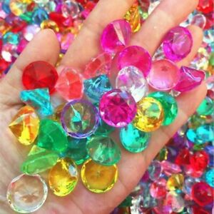 20mm Treasure Chest Pirate Gems Acrylic Crystal Faux Diamond Jewels Party Favors