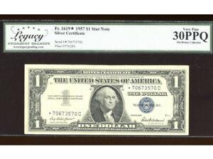 1957 $1 Silver ⭐️STAR *C Block Fr. 1619* Legacy 30 PPQ Serial *70673570C