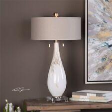 Uttermost 27201 Cardoni White Glass Table Lamp
