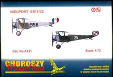 Choroszy Models 1/72 NIEUPORT 83E1 & 83E2 Fighter French & Polish Versions