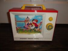 Fisher Price Giant Screen Music Box TV Two Tune Stories Mattel Classic Toy 2009