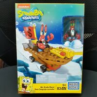 Mega Bloks SpongeBob SquarePants Mr. Krabs Racer 83 Pieces New SEALED Toy CNP25