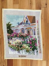 """COMPLETED Bucilla """"May Day"""" Needlepoint Kit #4758 1998 Cross Stitch 15x11.5"""