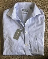 Michael Kors Men's Dress Shirt Slim Fit Medium Blue Long Sleeve New