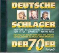 Deutsche Schlager der 70er 5-1974 Peter Orloff, Günther Stern, Ulli Marti.. [CD]