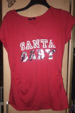 NEW LOOK MATERNITY ❄️ Christmas  Red Santa Baby top/T-shirt - Size 14