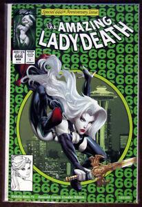 LADY DEATH Unholy Ruin #1 Emerald Creepy Crawler Ed. SPIDER-MAN 300 M/NM+ Signed