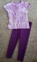 CHILDREN'S PLACE Embellished Purple Tie Dye Top Leggings Set Girls Size 4