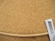 6628 günstig runder Teppich 90 cm Kettelteppich rund Gelb Mais Kräuselvelours