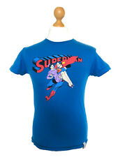 Superman by Zara Medium M Retro Vinatge T-shirt Tee Top Mens Blue Red DC Comics