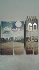 New World Traveler 6 x 8in Hardcover Travel journal with go see do combo