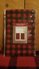 New Jackson Plaid Colordrift Curtains Tiers Red Black 58x36