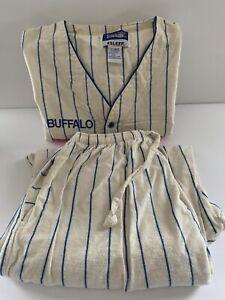 NFL Buffalo Bills Esleep Pajama Set Vintage