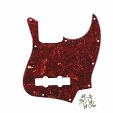 Uno Nuevo Jazz Bass de 4 Cuerdas FD Rasguño Placa 4Ply Rojo Golpeador caparazón de tortuga