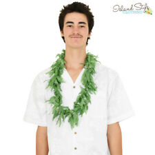 Lei Green Single Leaf Weed Hawaiian Necklace